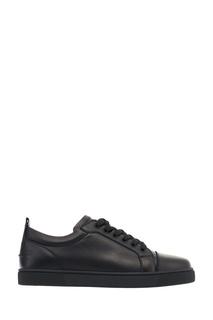 Черные кожаные кроссовки Ying Louis Junior Flat Christian Louboutin