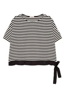 Хлопковая футболка в полоску Moncler