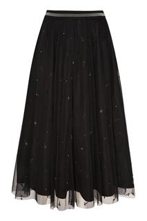 Черная юбка из вышитой сетки Max Mara Weekend