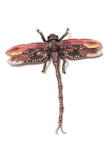 Брошь-стрекоза с розовыми кристаллами Herald Percy