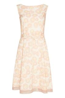 Бежевое платье с абстрактным принтом Marc Jacobs