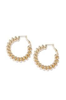 Золотистые серьги-спирали Lisa Smith