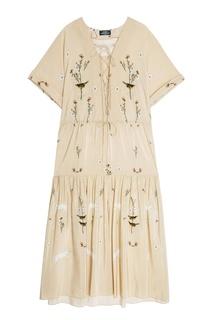 Шелковое платье с цветочным принтом Alena Akhmadullina