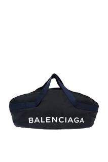 Синяя сумка с логотипом Wheel Balenciaga