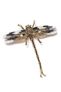 Золотистая брошь-стрекоза с кристаллами Herald Percy