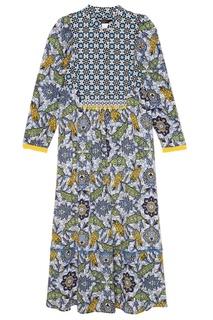 Платье-миди с комбинированным принтом Max Mara Weekend