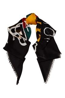Шелковый платок с принтом Coco Capitan Gucci
