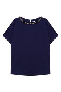 Хлопковая блузка с кристаллами Moncler