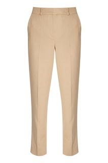 Бежевые брюки из хлопка и льна Alena Akhmadullina