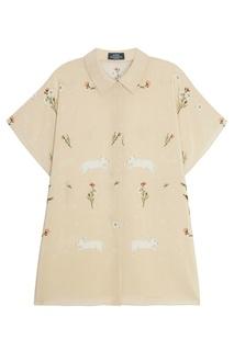 Шелковая блузка с цветочным принтом Alena Akhmadullina