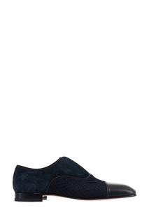 Синие комбинированные туфли Alpha Male Flat Christian Louboutin