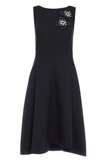 Черное платье с аппликацией Dorothee Schumacher