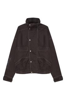 Серая хлопковая куртка с карманами C2 H4