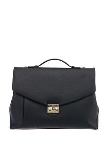 Черный кожаный портфель Man Teseo Furla