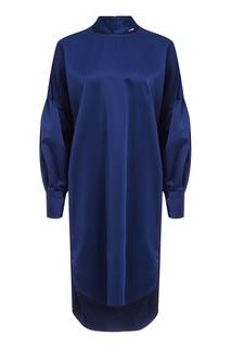 Синее платье с вырезами By Malene Birger