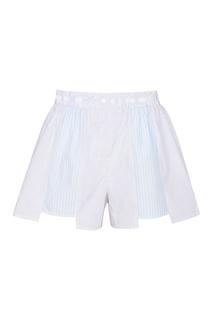 Хлопковые шорты в полоску T by Alexander Wang