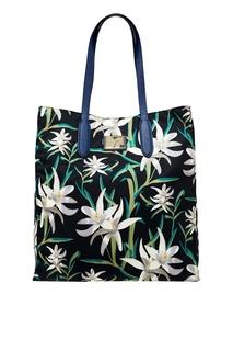 Текстильная сумка с лилиями Diane von Furstenberg