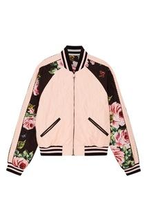 Двусторонний бомбер с цветочным принтом Dolce & Gabbana
