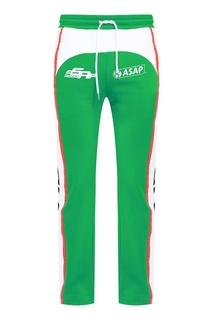 Зеленые спортивные брюки из хлопка Hoodlab