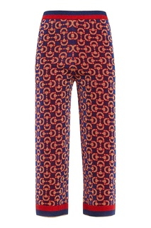 Широкие брюки с узором Gucci