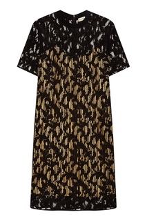 Черное платье с кружевом By Malene Birger
