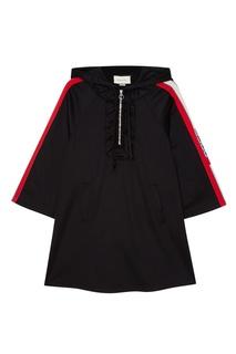 Черное платье с капюшоном Gucci