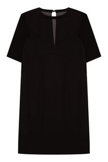 Комбинированное черное платье By Malene Birger