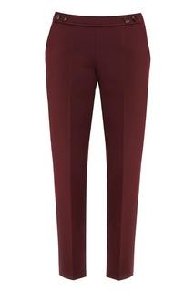 Бордовые брюки со стрелками Hugo Boss