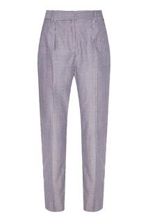 Синие хлопковые брюки в полоску Akhmadullina Dreams
