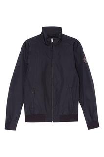 Черная куртка-бомбер на молнии Napapijri