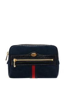 Синяя замшевая сумка Ophidia Gucci