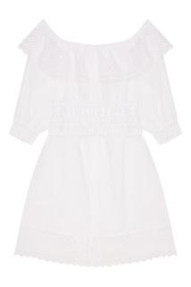 Белое платье с ажурной отделкой Charo Ruiz