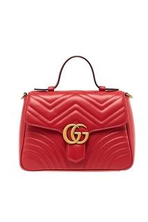 Красная кожаная сумка GG Marmont Gucci