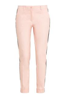 Розовые брюки с контрастными лампасами P.A.R.O.S.H.