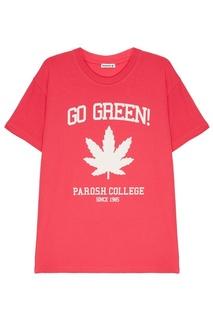 Розовая футболка с принтом P.A.R.O.S.H.