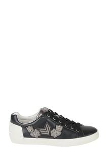 Черные кожаные кроссовки Nash