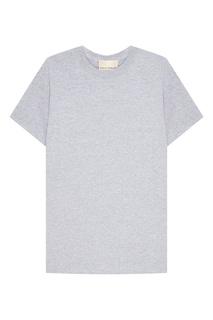 Серая меланжевая футболка Erika Cavallini