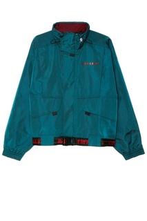 Зеленая куртка с декоративным поясом Daily Paper