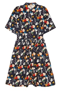 Хлопковое платье-рубашка с принтом Paul & Joe Sister