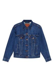 Синяя куртка из потертого денима EXBOYFRIEND TRUCKER STOOP CULTUR Levis®