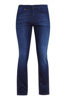 Темно-синие джинсы с потертостями Boss Green
