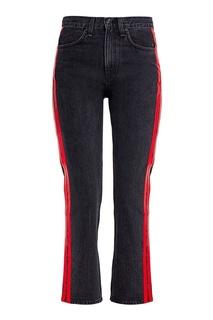 Укороченные черные джинсы с лампасами Rag&Bone