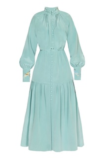 Шелковое платье-миди с драпировками Alena Akhmadullina