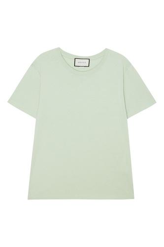 Светло-зеленая футболка из хлопка