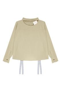 Рубашка цвета хаки с завязками Erika Cavallini