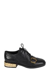 Черные ботинки с перфорацией Freak Ash