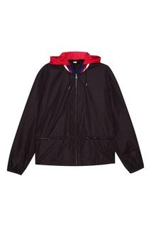 Черная куртка с ярким воротником Gucci