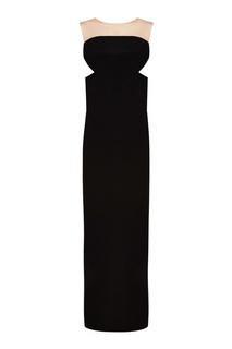 Черное платье с асимметричным подолом Rick Owens