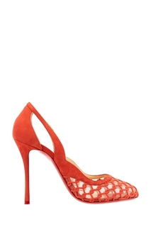 Ажурные красные туфли K-Racas 100 Christian Louboutin