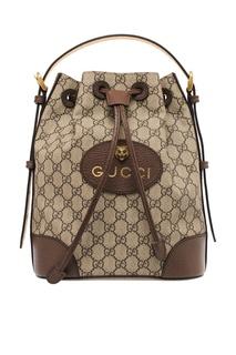 Сумка с кожаной отделкой Gucci